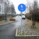 Inmätning av en kunds trafikskyltar.